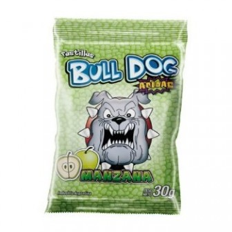PAST.BULL DOG X 30G MANZANA