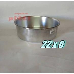 Tortera aluminio N 22 X 6