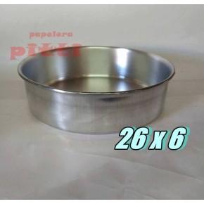 Tortera aluminio N 26 X 6