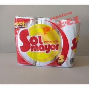 BULTO 8 X 3 ROLLO DE COCINA SOL MAYOR X 40 PAÑOS
