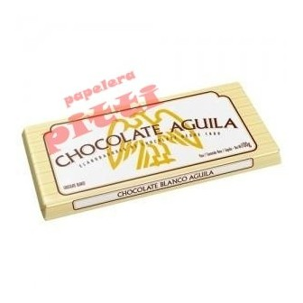 chocolate aguila x 100 g blanco en tableta