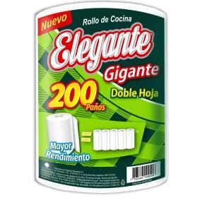 ROLLO DE COCINA ELEGANTE X200 PAÑOS