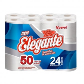 PAPEL HIGIENICO ELEGANTE 24 X50MTS