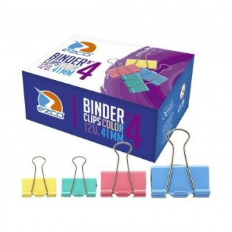 BINDERS CLIPS COLOR 32MM N3