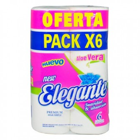 PAPEL HIGIENICO ELEGANTE X6 ALOE VERA PREMIUM