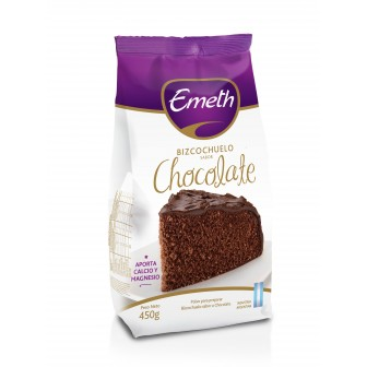 BIZCOCHUELO EMETH CHOCOLATE CON GLUTEN