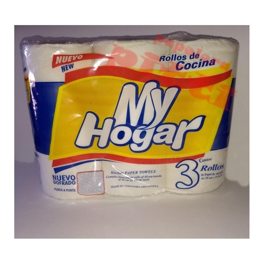 ROLLO DE COCINA MY HOGAR X 40 PAÑOS